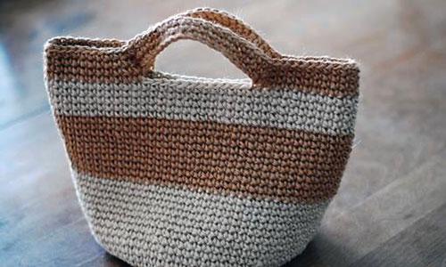[目黒] 編み物教室「 麻ひもで編む お散歩バッグ 」