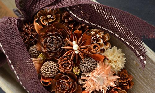 [銀座] 木の実デコールで作る「香りを飾る秋のインテリアツォップ」