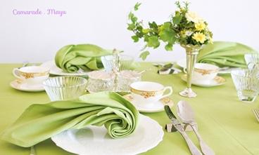 [札幌] 初夏のテーブルコーディネート ~新緑を感じる休日のブランチ~