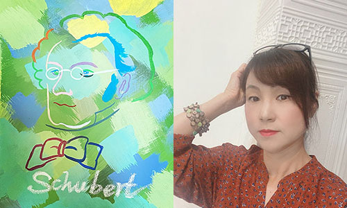 [銀座]  Mihoko Ishikawa   Exhibition「New Style×Classical Composers 新しいスタイル×クラシツク作曲家たち 」(10/1~10/30)