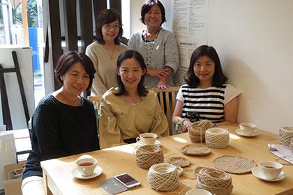 麻糸で編む  お散歩バッグ講座
