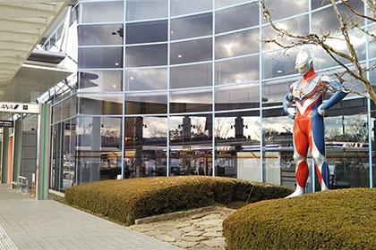 ウルトラマンがいっぱい。福島空港