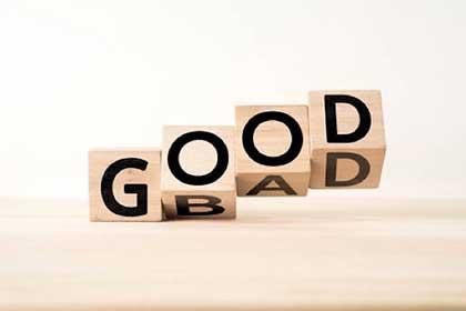 善きことを思えば善きことが起こり、悪しきことを思えば悪しきことが起こる